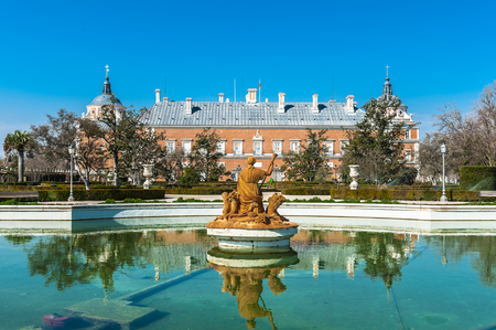 Fountain in front of the Palacio Real in Aranjuez, Spain