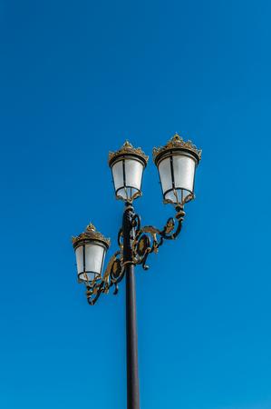 Lamp post inAranjuez, Community of Madrid, Spain. UNESCO World Heritage