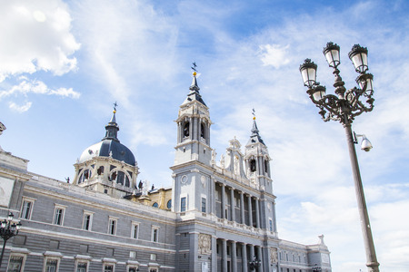 Santa Maria la Real de La Almudena. Its Catholic cathedral in Madrid, Spain