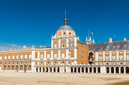 Royal Palace of Aranjuez, a residence of the King of Spain, Aranjuez, Community of Madrid, Spain. Stock Photo