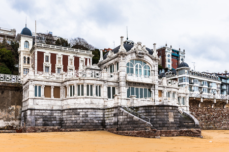 Buildings of the  the Bay de la Concha, San Sebastian, Basque Country, Spain. Editorial