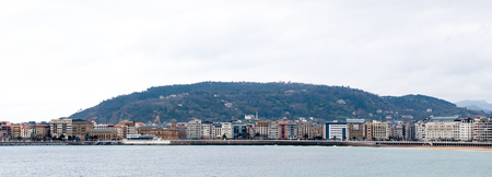 San Sebastian city in the Bosque country, La Concha Bay of the Cantabrian Sea