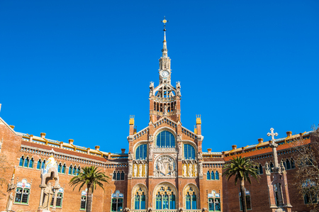 Hospital de de Sant Pau, Barcelona, Catalonia, Spain Stock Photo