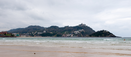 Cantabrian Sea, Bay de la Concha, San Sebastian, Basque Country, Spain