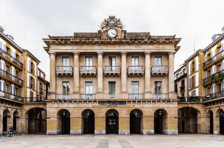 Constitution Square (Plaza) in San Sebastian,  Basque Country, Spain.