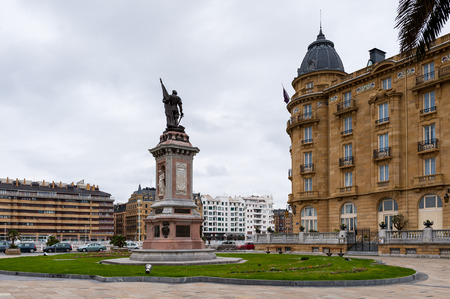 Monument to the admiral D. ANtonio de Oquendo, San Sebastian, Basque Country, Spain.