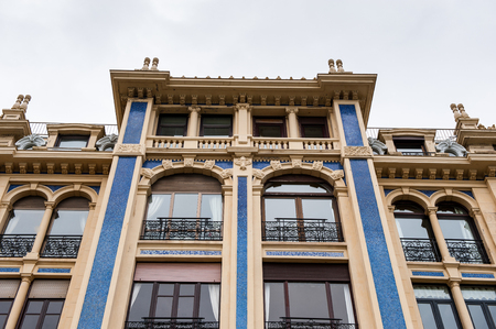 Modern architecture of San Sebastian, Spain Stock Photo
