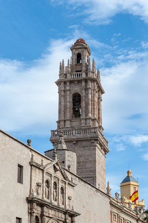 Convent of Santo Domingo de Valencia, next to the Old Citadel of the city.  Former Captaincy General of Valencia. Valencia, Spain Stock Photo