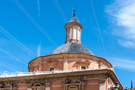 Basilica de la Virgen (view from the Plaza de la Virgen), Valencia, Spaim