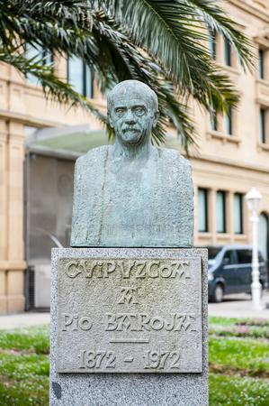 Pio Baroja monument in San Sebastian, Spain