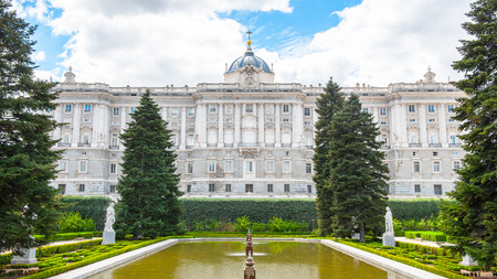Royal Palace (Palacio Real), Madrid, Spain. View from the Sabatini Gardens