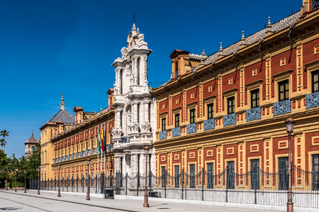 San Telmo Palace, Seville, Spain. Seat of the presidency of the Andalusian Autonomous Government.