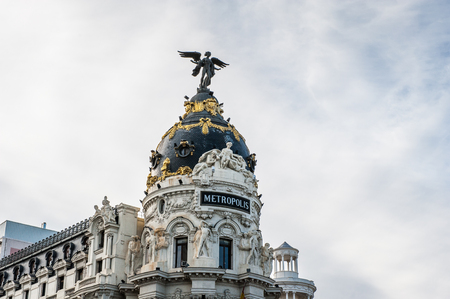 Metropolis building, Madrid, Spain.