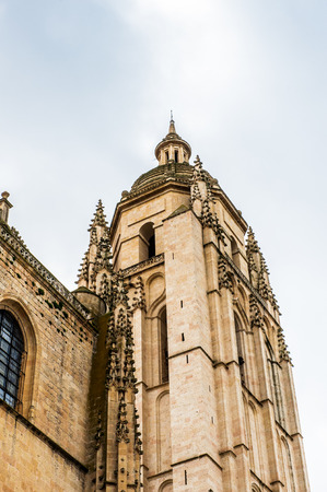 Segovia Cathedral, a Roman Catholic religious church in Segovia, Spain. Stock Photo