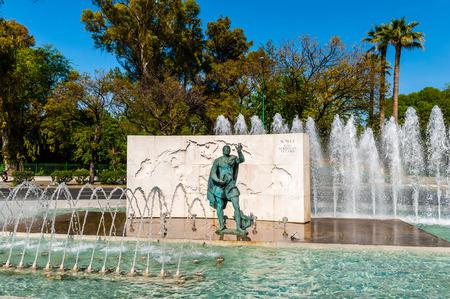 Monument to Simon Bolivar, Seville, Spain.