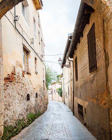 Narrow street in Segovia, Spain