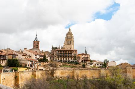 Old Town of Segovia, Spain. Stock Photo