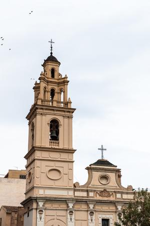 Saint Monica church and the Serrano bridge, Valencia, Spain