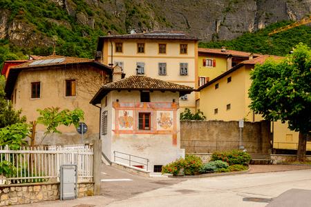 Architecture of Mezzocorona, Italy.  A comune in Trentino in the northern Italian region Trentino-Alto Adige and Sudtirol
