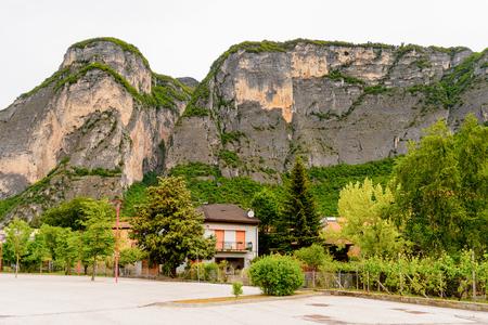 Architecture of Mezzocorona, Italy.  A comune in Trentino in the northern Italian region Trentino-Alto Adige and Sudtirol, Stock Photo