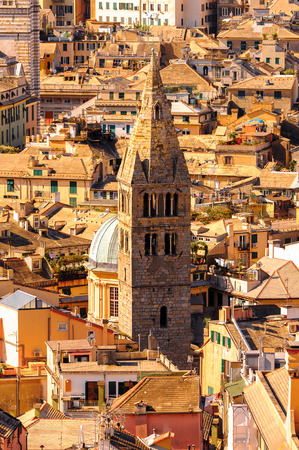 Architecture of the Old Port area of Genoa. Genoa is the capital of Liguria and the sixth largest city in Italy Banque d'images