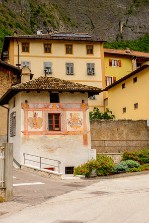 Architecture of Mezzocorona, Italy.  A comune in Trentino in the northern Italian region Trentino-Alto Adige and Sudtirol