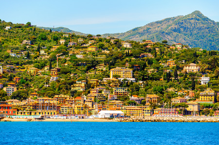 Architecture of Santa Margherita Ligure, which is popular touristic destination in summer Stock Photo