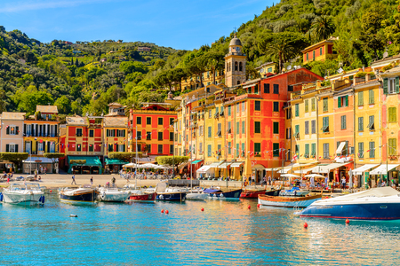 Portofino, is an Italian fishing village, Genoa province, Italy. A vacation resort with a picturesque harbour and with celebrity and artistic visitors.