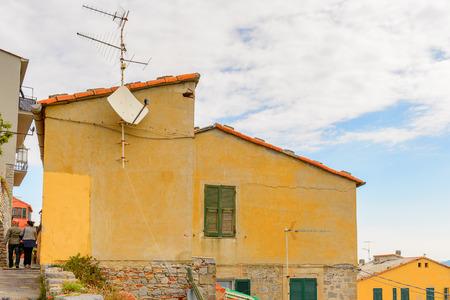 Porto Venere, Italy. Porto Venere and the villages of Cinque Terre are the UNESCO World Heritage Site. Stock Photo