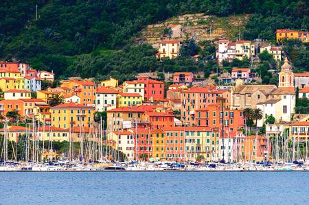 Coast of the Ligurian sea near La Spezia, Italy. Stock Photo