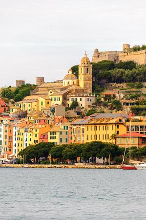 Architecture of Porto Venere, Italy. Stock Photo