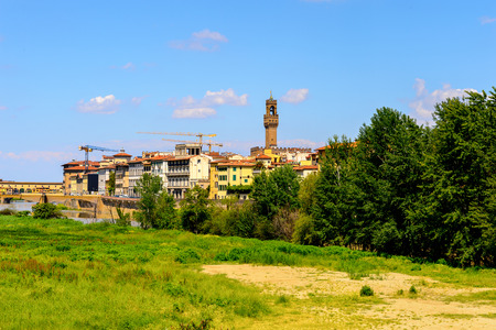 Coast of the river Arno of Florence, Italy.