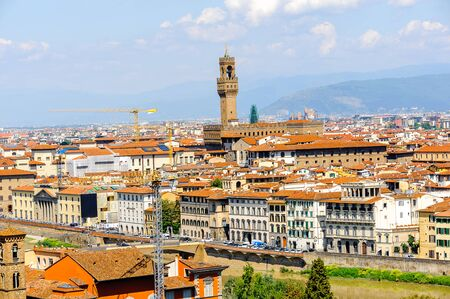 Palazzo Vecchio (Old Palace), Historic Centre of Florence, Italy.