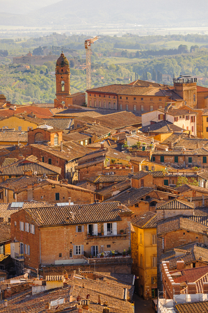 Panorama of the Historic centre of Siena.