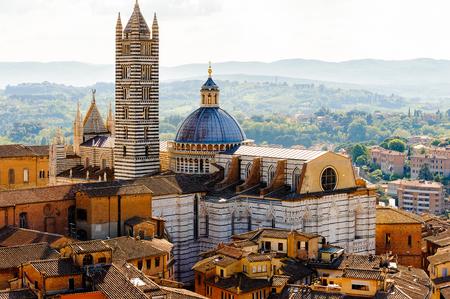 Duomo of Siena, Historic centre of Siena. Stock Photo
