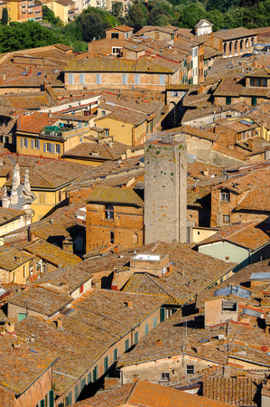 Roof tops of the Historic centre of Siena.
