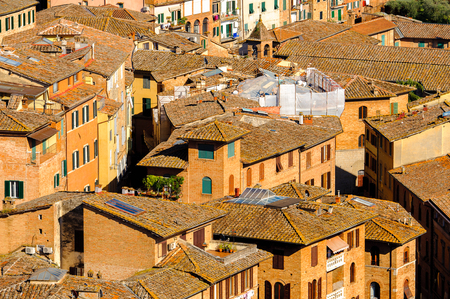 Architecture of the Historic centre of Siena.
