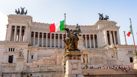 The Altare della Patria or Il Vittoriano , a monument built in honour of Victor Emmanuel, the first king of a unified Italy, Rome. Editorial