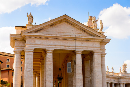 St. Peters Square (Vatican, Rome, Italy), Renaissance architecture. One of the popualr touristic destinations in Rome Stock Photo