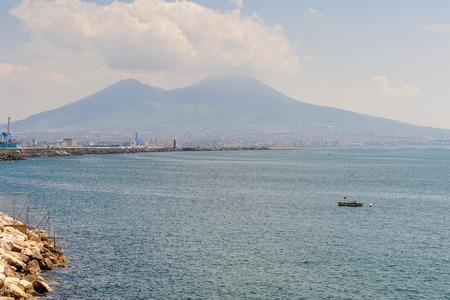 Vesuvius volcano in Naples, Italy.