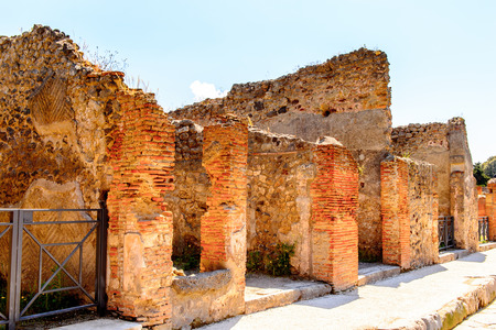 Pompeii, an ancient Roman town destroyed by the volcano Vesuvius.