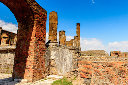 The Forum of Pompeii, an ancient Roman town destroyed by the volcano Vesuvius.