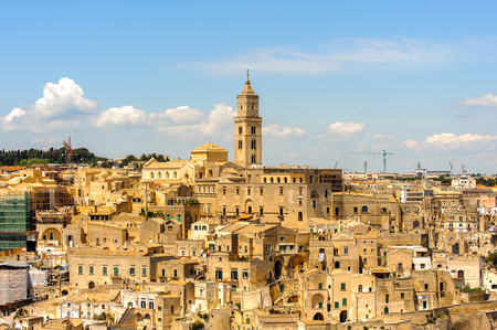Cathedral of Matera, Puglia, Italy. The Sassi and the Park of the Rupestrian Churches of Matera.