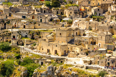 Matera, Puglia, Italy. The Sassi and the Park of the Rupestrian Churches of Matera.