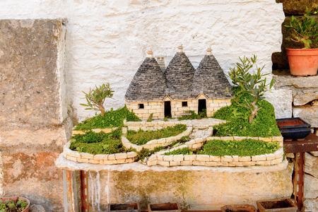 Trulli of Alberobello, a small town in Apulia, Italy.