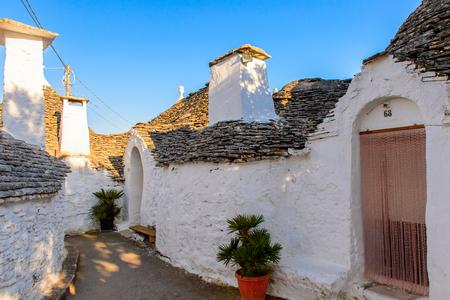 Alberobello, a small town in Apulia, Italy. Famous for its unique trulli buildings.