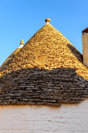Alberobello, a small town in Apulia, Italy. Famous for its unique trulli buildings. The Trulli of Alberobello