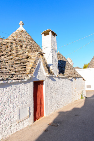 Alberobello, a small town in Apulia, Italy. Famous for its unique trulli buildings.