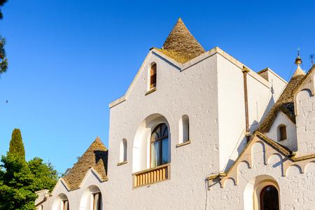 Church of Alberobello, a small town in Apulia, Italy. Stock Photo