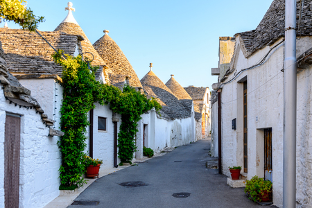 Architecture of Alberobello, a small town in Apulia, Italy. Famous for its unique trulli buildings.